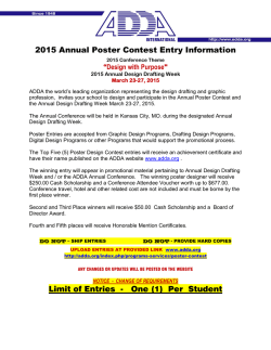 2015 Annual Poster Contest Entry Information Limit of Entries