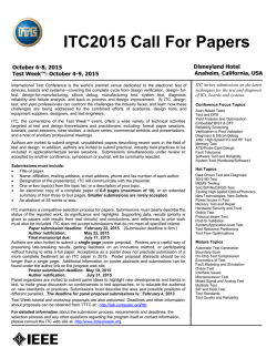 2015 Call for Papers - International Test Conference