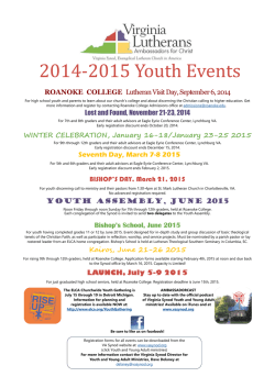 2014-2015 Youth Event Poster.pub
