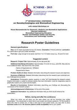 Poster Guidelines - icnbme-2015