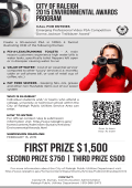 2015 Public Utilities Video PSA Competition Poster