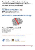 Rehabilitation Psychology 2015 Call for Proposals