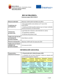 ERASMUS 2014-2015 - Convocatoria