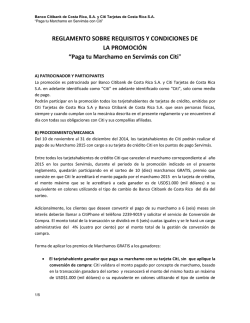 REGLAMENTO SOBRE REQUISITOS Y