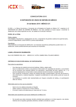 MEXICO 2015 CONVOCATORIA