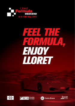 8-9-10th May 2015 - F1 Packs COSTA Barcelona