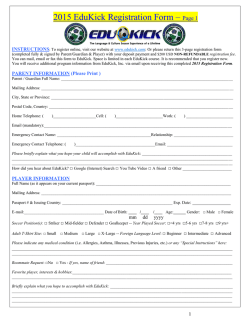 2015 EduKick Registration Form – Page 1
