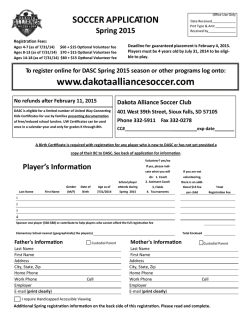 Paper Registration - Dakota Alliance Soccer Club