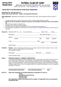registration form - Futbol Club of Cary