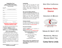 Download registration information for Mission Work Trip