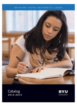 Catalog - Brigham Young University