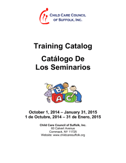 Education Opportunities Catalog Oct 2014-Jan 2015