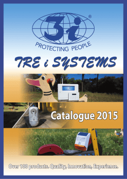CATALOGO TRE I SYSTEMS ENG2015