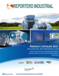 Product Catalog 2015 - Reportero Industrial