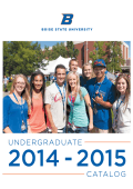 2014 2015 Undergraduate Catalog - Office of the Registrar