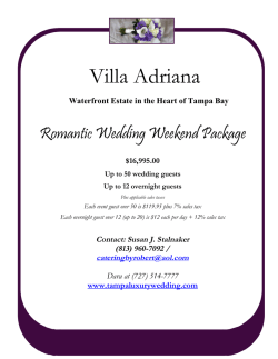 villa adriana wedding weekend - Catering by Robert