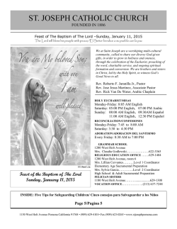 ST. JOSEPH CATHOLIC CHURCH - E-churchbulletins.com