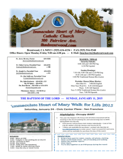 Bulletin - Immaculate Heart of Mary