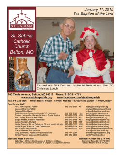 Current (PDF) - Saint Sabina Parish