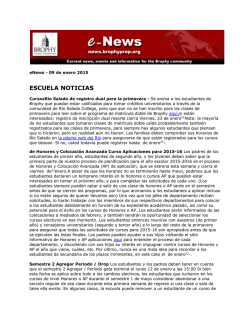 ESCUELA NOTICIAS - Brophy College Preparatory