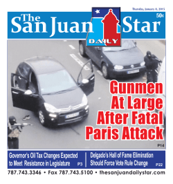 Jan 8, 2015 - The San Juan Daily Star