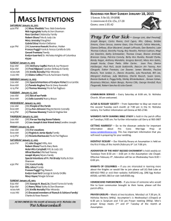 Current Week - Our Lady Of Perpetual Help Parish