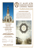 MASS SCHEDULE - E-churchbulletins.com
