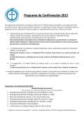 Programa de Confirmación 2015 - Saint William Catholic Church