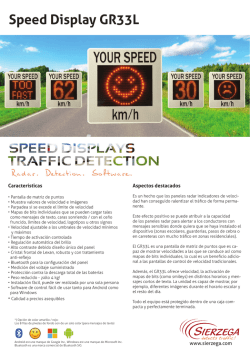 Speed Display GR33L - Home | Sierzega elektronik