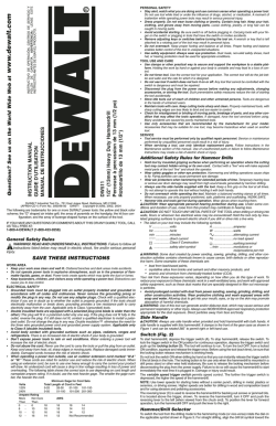 www .dewalt.com - DeWalt Power Tools