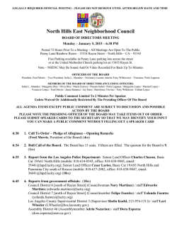 North Hills East Neighborhood Council - The City of Los Angeles