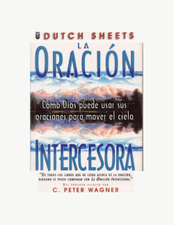 La oración Intercesora (Dutch Sheets) - Página de Eunice