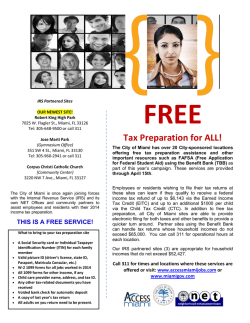 FREE Tax Preparation for ALL! - City of Miami