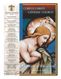 004985Jan11(Baptism of the Lord) - E-churchbulletins.com