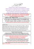 lista de precios - Silk Perfumes - CATALOGO