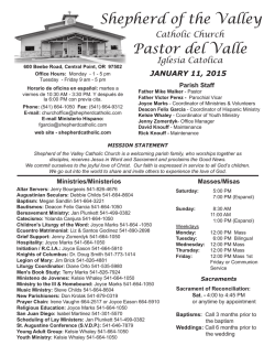 Bilingual Bulletin.indd - Shepherd of the Valley