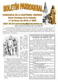 Hoja parroquial - Catedral de Santo Domingo de la Calzada