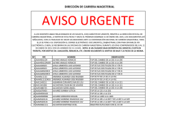 comunicado urgente federal - Carrera Magisterial