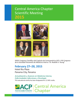 ACP Central America Chapter Meeting - American College of