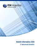Boletín Informativo 2014