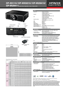 CP-X9110 / CP-WX9210 / CP-WU9410/ - Hitachi Digital Media