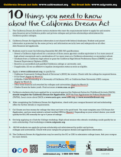 14-2430-5 CSAC 10 Things You-Dream Act ENG/SP G-125.indd