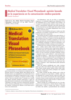 Medical Translation Visual Phrasebook - Tremédica