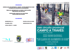 informacion cross coin - Club Nerja de Atletismo