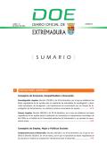 Descargar DOE completo - Diario Oficial de Extremadura