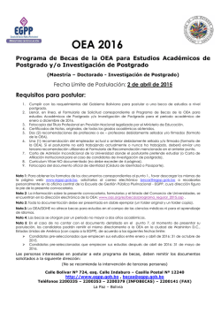 Requisitos para postular - EGPP