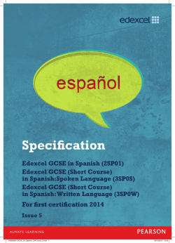 Specification - Edexcel