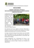 nota de prensa - municipalidad provincial de chanchamayo