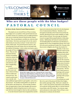 PASTORAL COUNCIL - E-churchbulletins.com
