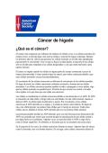 Cáncer de hígado - American Cancer Society